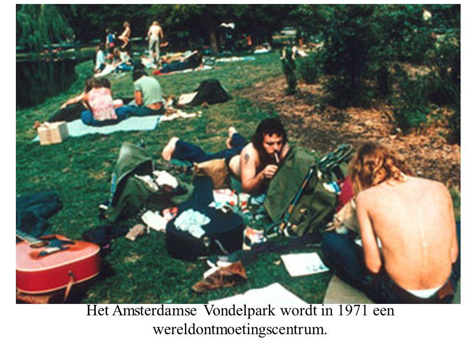 Het Amsterdamse Vondelpark wordt in 1971 een wereldontmoetingscentrum.