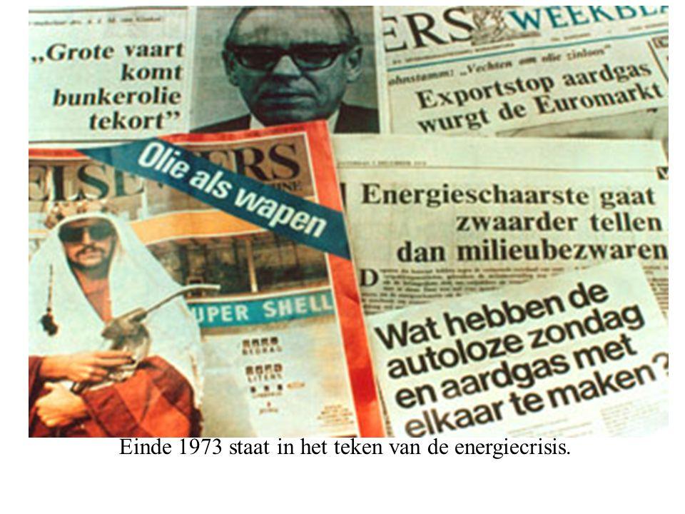 Einde 1973 staat in het teken van de energiecrisis.