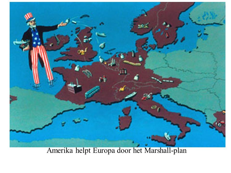 Amerika helpt Europa door het Marshall-plan