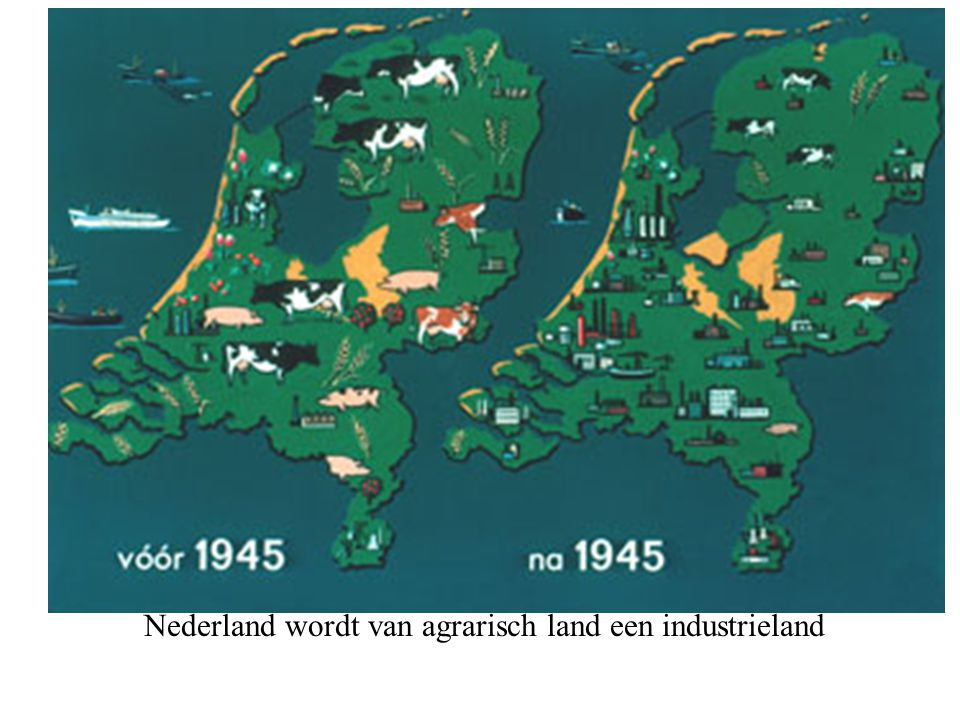 Nederland wordt van agrarisch land een industrieland