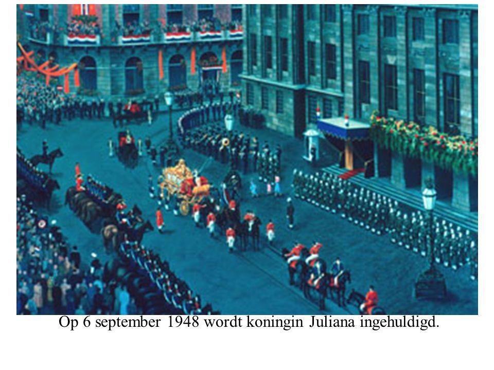 Op 6 september 1948 wordt koningin Juliana ingehuldigd.