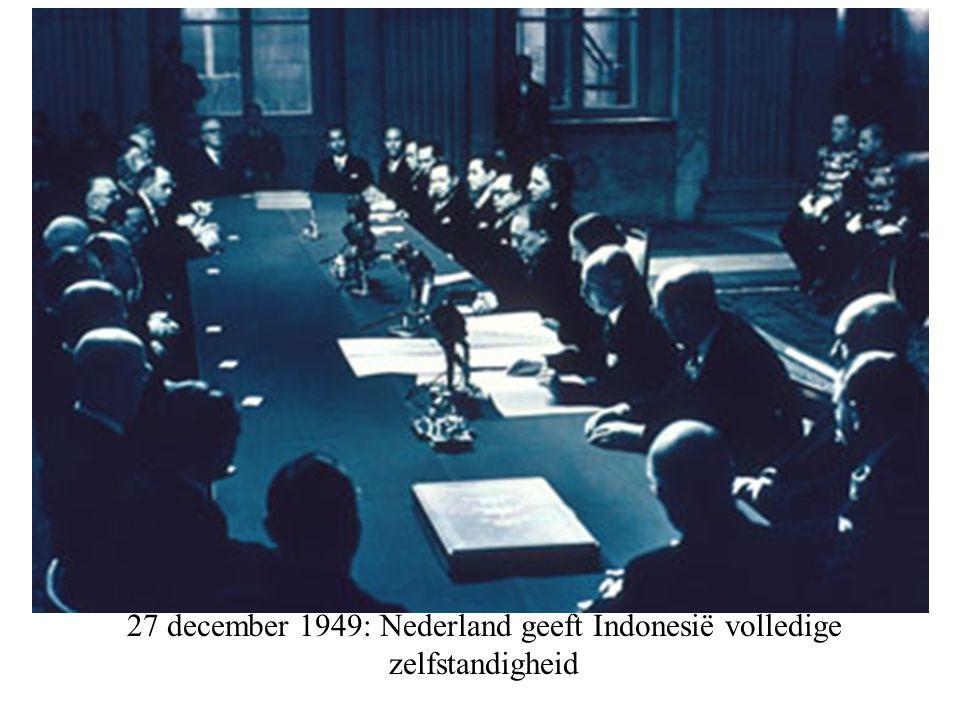 27 december 1949: Nederland geeft Indonesië volledige zelfstandigheid
