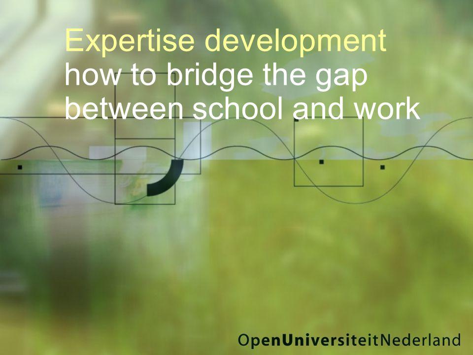 Expertise development how to bridge the gap between school and work