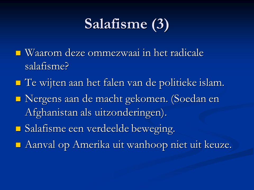 Salafisme (3) Waarom deze ommezwaai in het radicale salafisme.