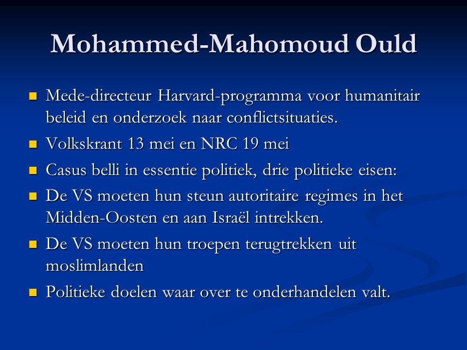 Mohammed-Mahomoud Ould Mede-directeur Harvard-programma voor humanitair beleid en onderzoek naar conflictsituaties.