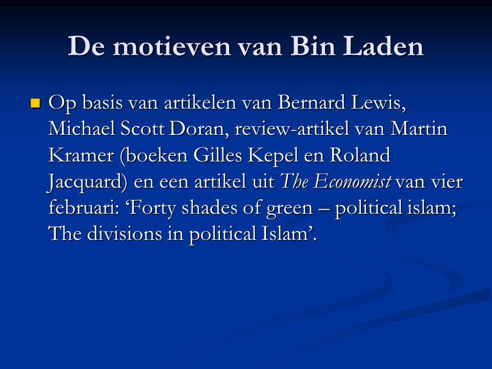 Beginstelling Waarom niet onderhandelen met Bin Laden en Al Qa'ida?