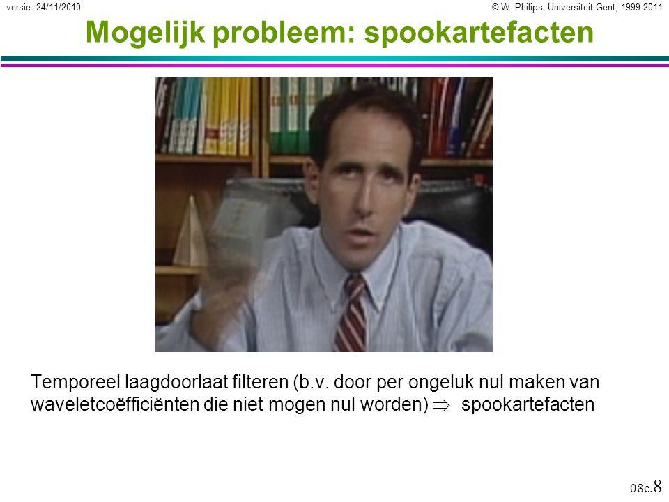 © W.Philips, Universiteit Gent, 1999-2011versie: 24/11/2010 08c.