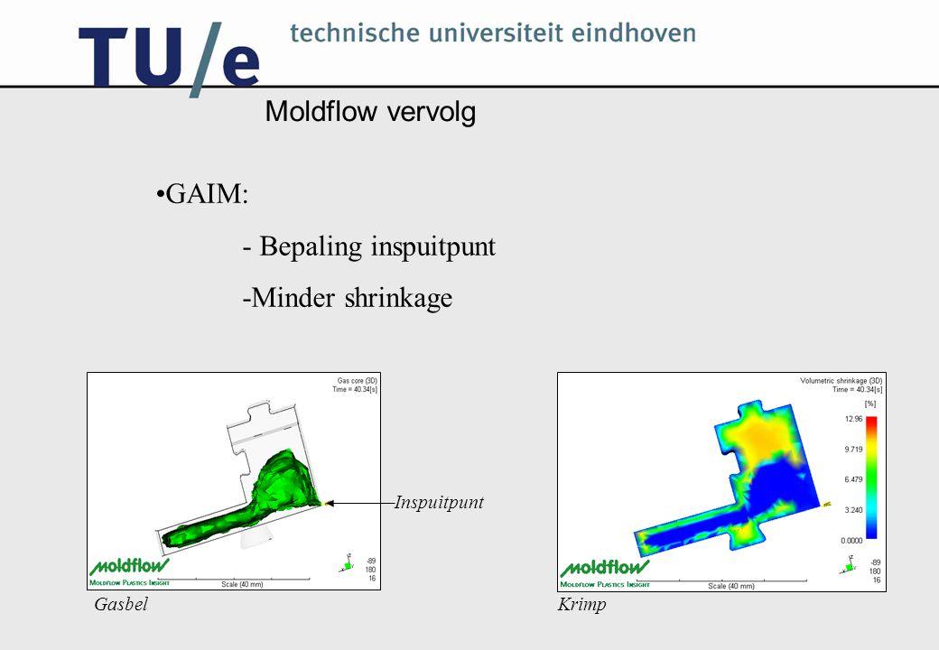 Matrijs Matrijs-lossings-mechaniek: -Horizontale inserts -Schuine geleidingsgleuven Runners en uitstoters: -Beide extruders -Duikbootverbinding -Achtervlakken als uitstoters -Vertragingsmechanisme