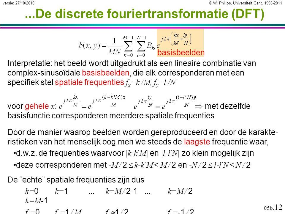 © W. Philips, Universiteit Gent, 1998-2011versie: 27/10/2010 05b.