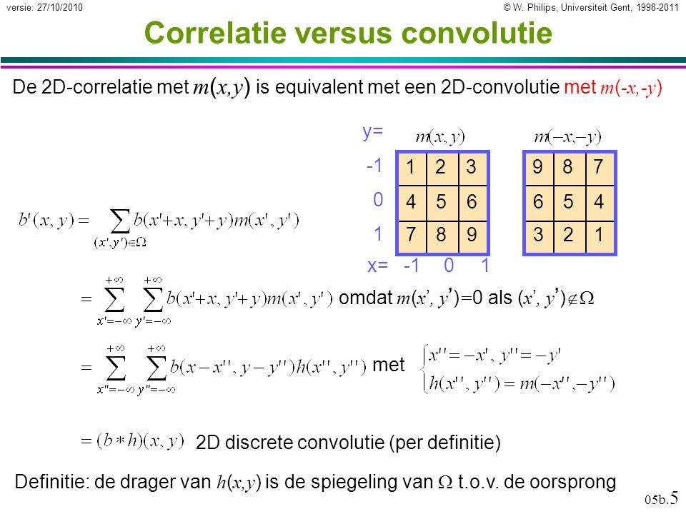 © W.Philips, Universiteit Gent, 1998-2011versie: 27/10/2010 05b.