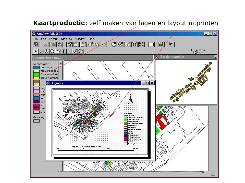 Kaartproductie: zelf maken van lagen en layout uitprinten