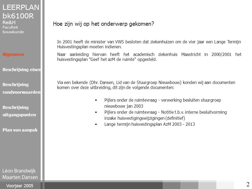 13 Algemeen Beschrijving eisen Beschrijving randvoorwaarden Beschrijving uitgangspunten Plan van aanpak Verschillende onderdelen in het gebouw Noord GGD De GGD heeft als functie de preventie van ziekten.