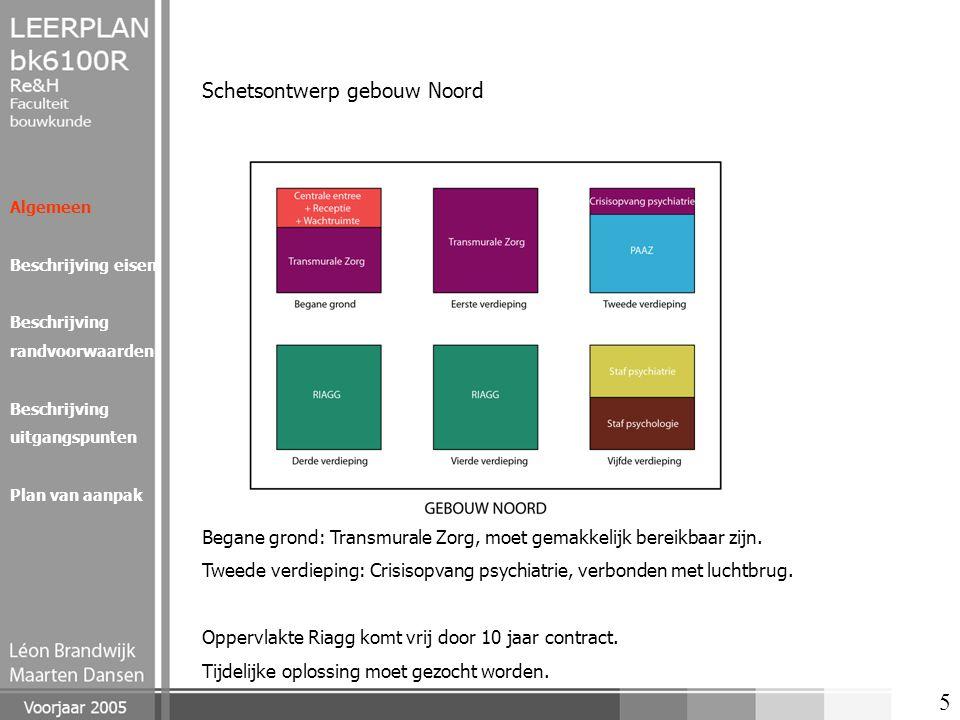 6 Algemeen Beschrijving eisen Beschrijving randvoorwaarden Beschrijving uitgangspunten Plan van aanpak