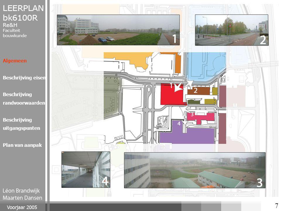 18 Algemeen Beschrijving eisen Beschrijving randvoorwaarden Beschrijving uitgangspunten Plan van aanpak Verschillende onderdelen in het gebouw Noord Totale oppervlakten en kosten, exclusief derden Totaal Opp.