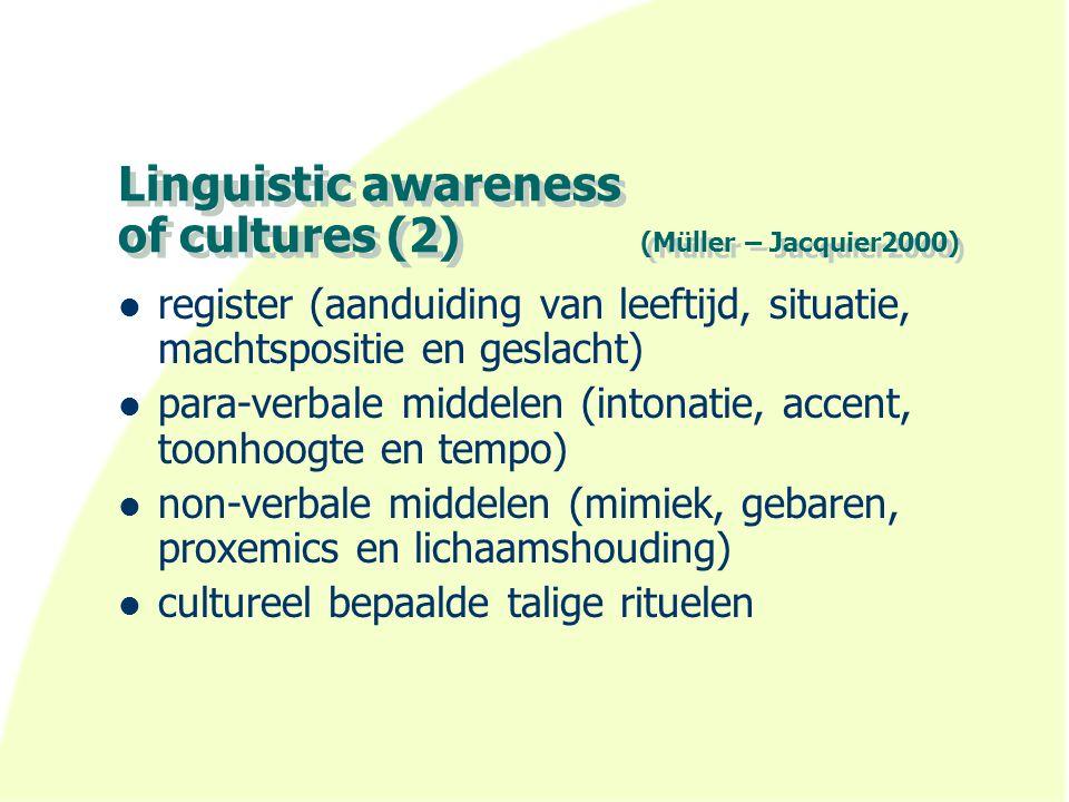 Vooronderstellingen (ten Thije 2003) 1.