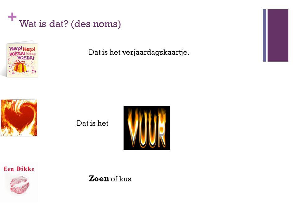 + Werkwoorden 1 (des verbes) pokure tekenen (signer)  getekend (signé) Pouvoir (possibilité, capacité)Kunnen Qui cela pourrait-il être.