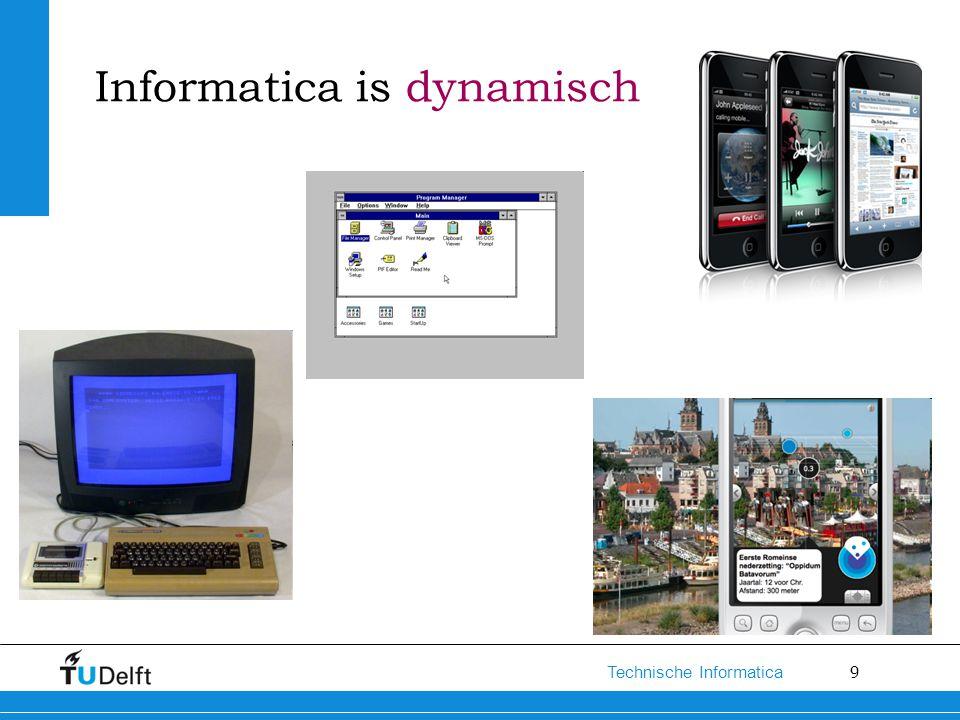 9 Technische Informatica Informatica is dynamisch