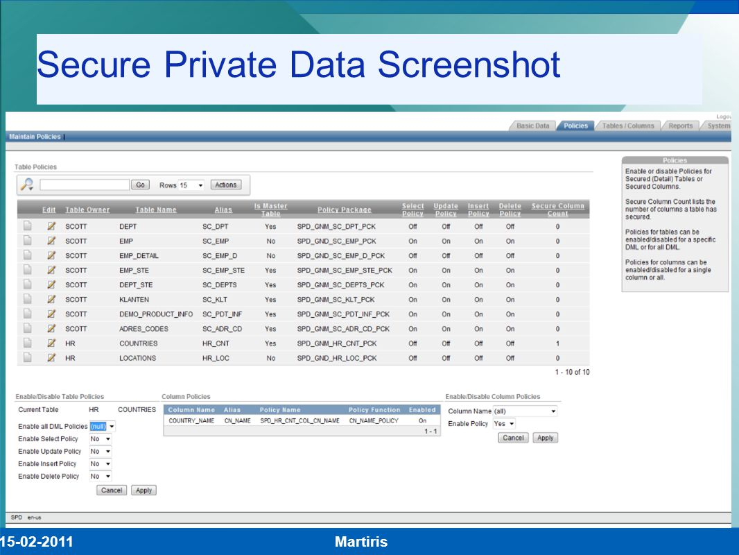 Secure Private Data Screenshot Demo! Martiris15-02-2011