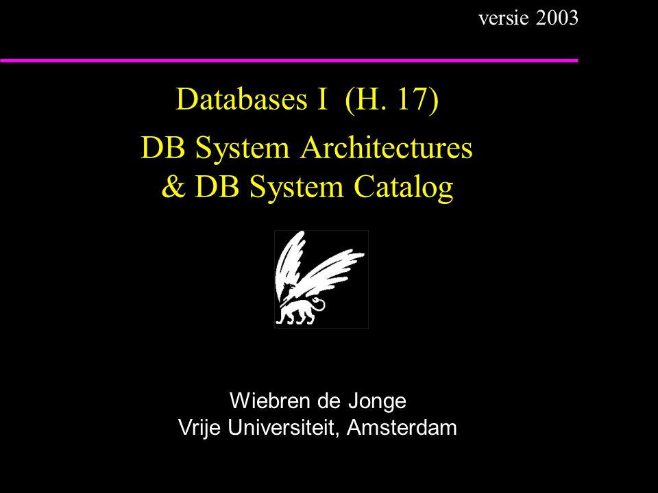 Databases I (H.