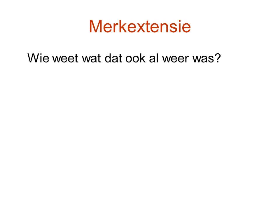Merkextensie Wie weet wat dat ook al weer was?