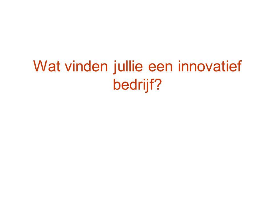 Wat vinden jullie een innovatief bedrijf?
