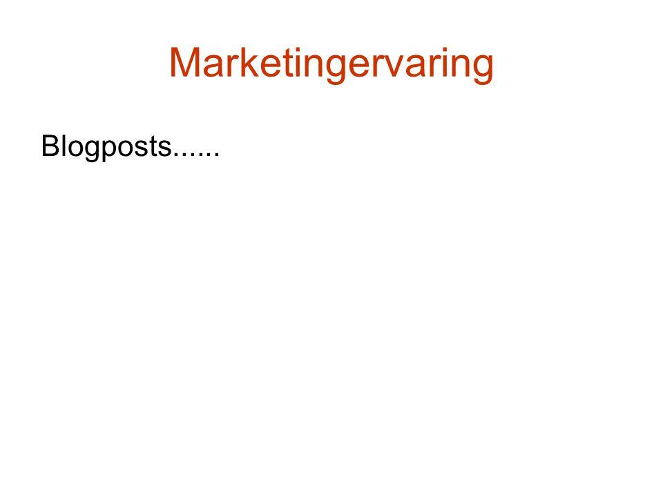 Marketingervaring Blogposts......