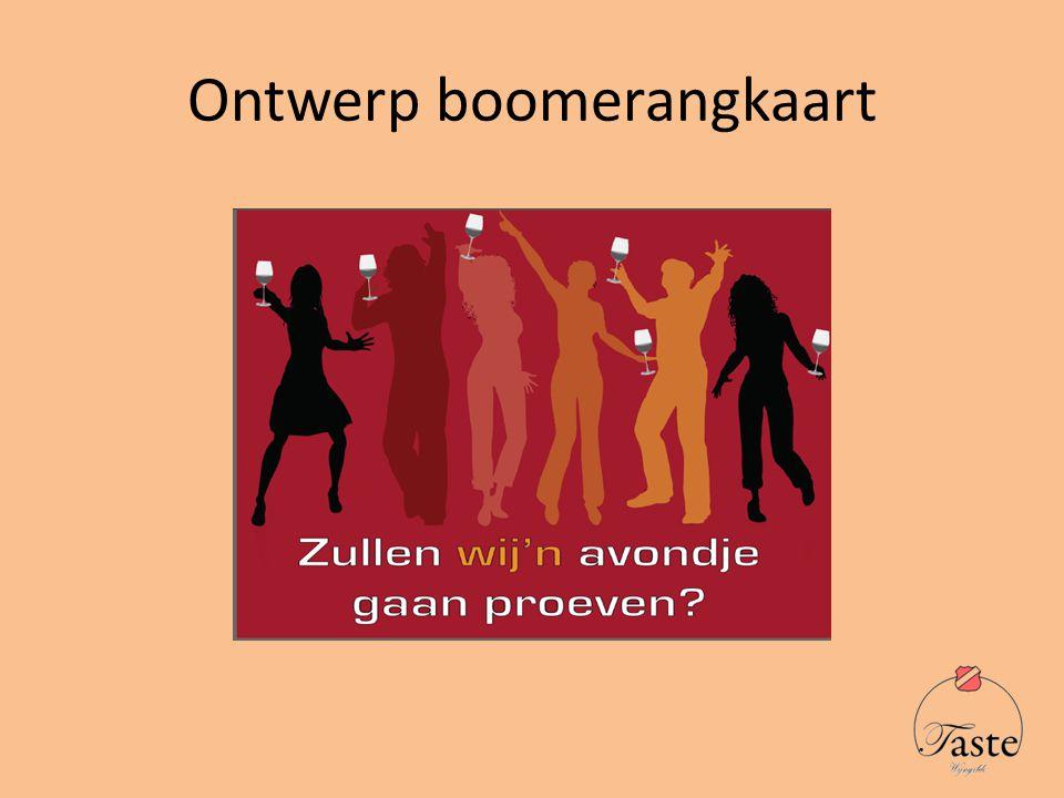 Ontwerp boomerangkaart