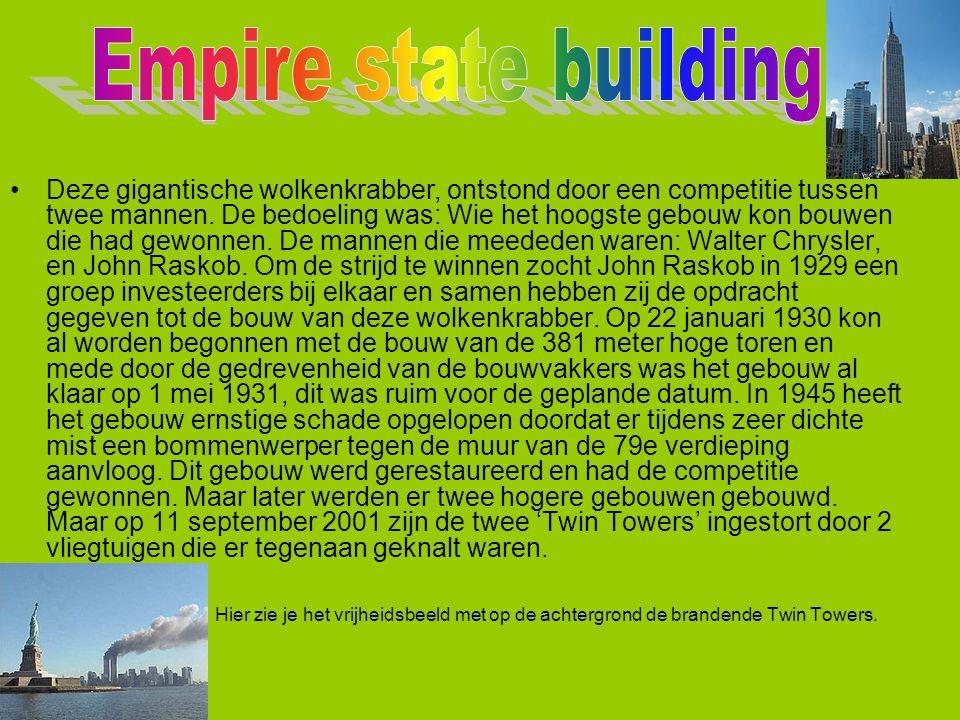 Deze gigantische wolkenkrabber, ontstond door een competitie tussen twee mannen. De bedoeling was: Wie het hoogste gebouw kon bouwen die had gewonnen.
