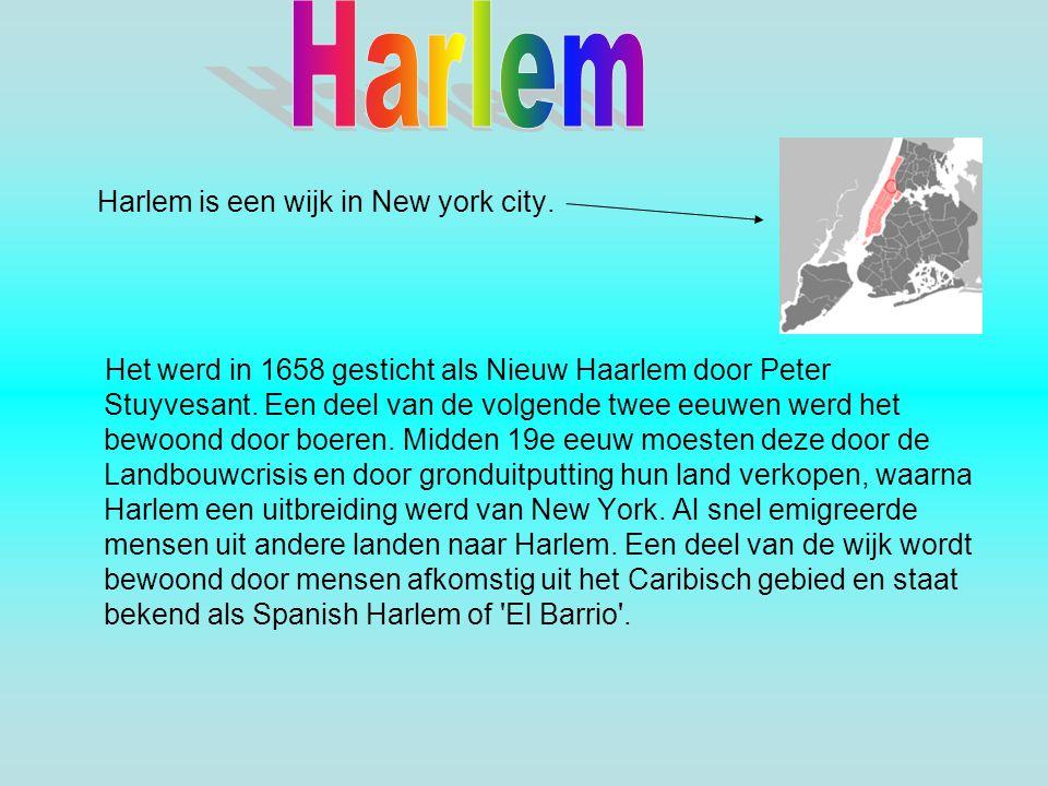 Harlem is een wijk in New york city. Het werd in 1658 gesticht als Nieuw Haarlem door Peter Stuyvesant. Een deel van de volgende twee eeuwen werd het