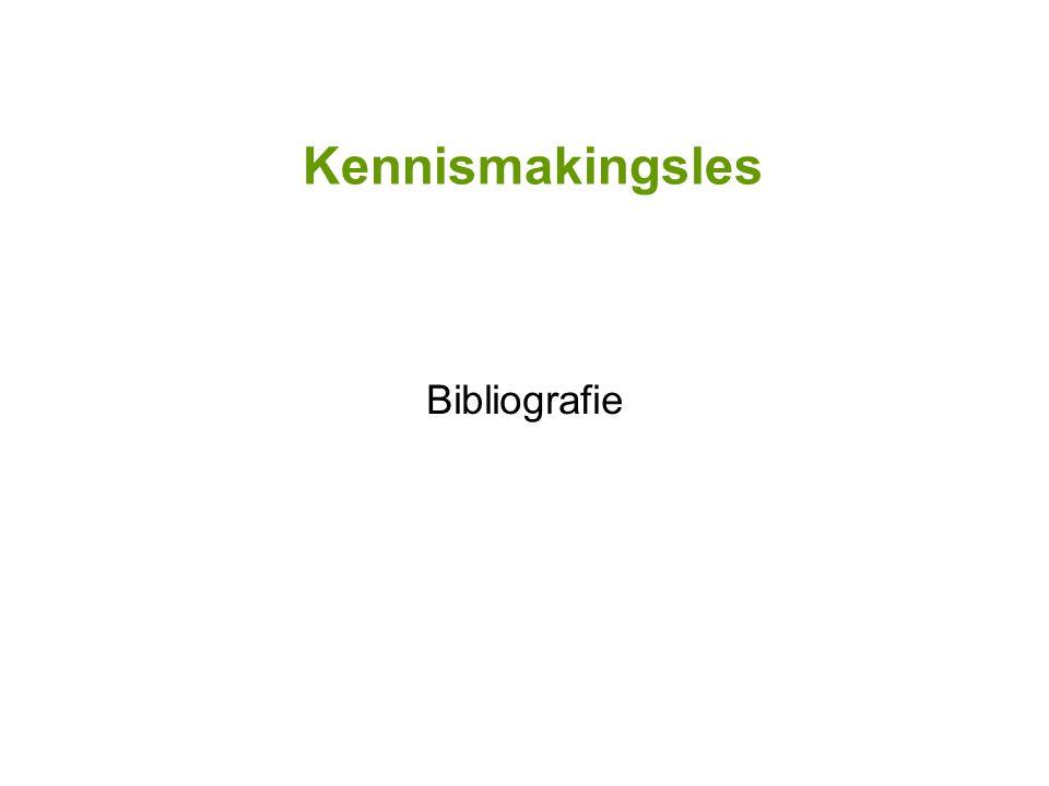 Kennismakingsles Bibliografie