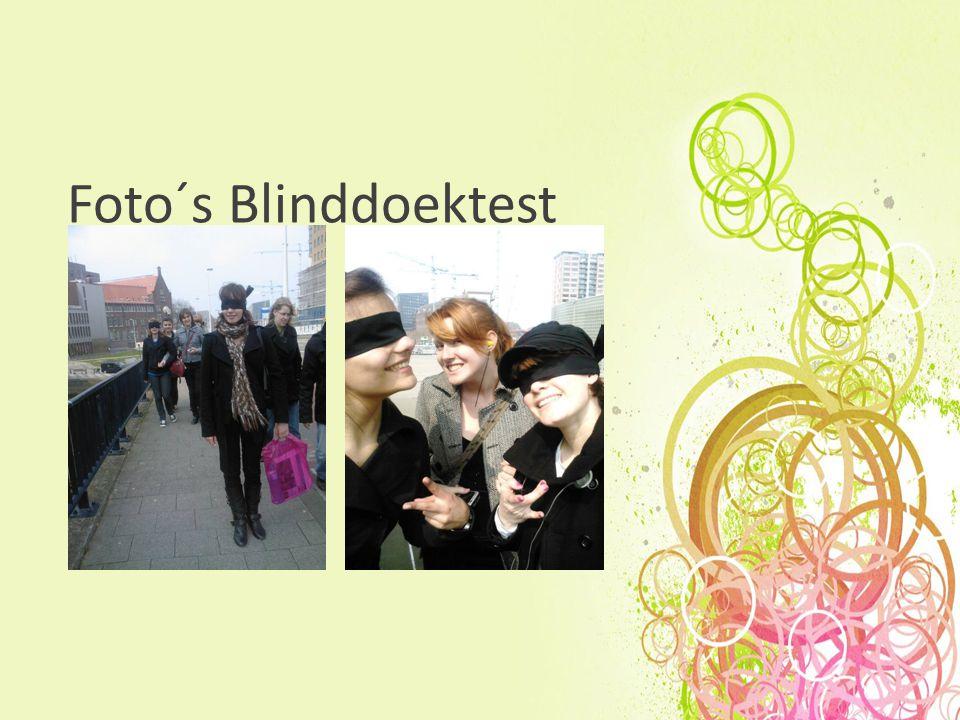 Foto´s Blinddoektest