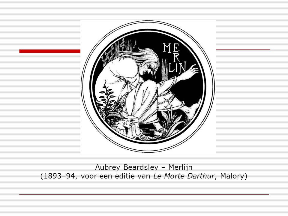 Aubrey Beardsley – Merlijn (1893–94, voor een editie van Le Morte Darthur, Malory)