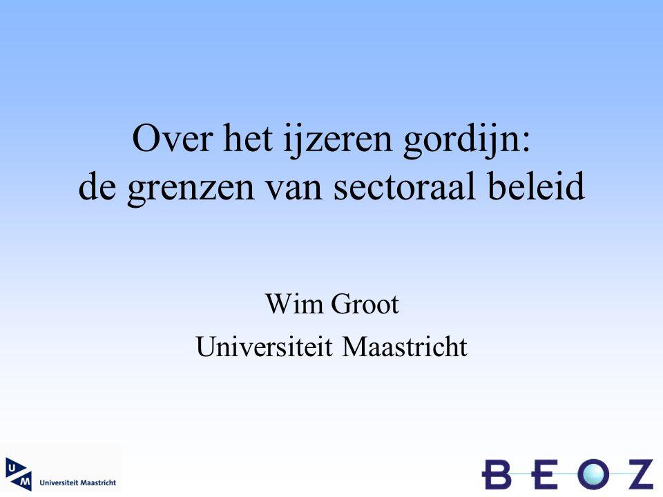 Over het ijzeren gordijn: de grenzen van sectoraal beleid Wim Groot Universiteit Maastricht