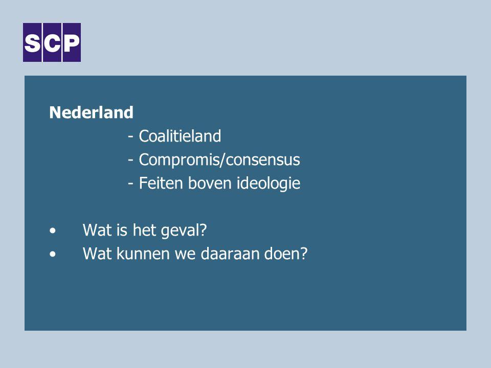 Nederland - Coalitieland - Compromis/consensus - Feiten boven ideologie Wat is het geval.