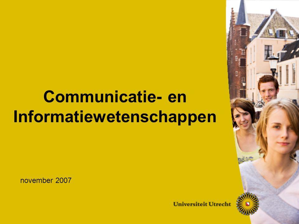 CIW  Beroepsperspectieven  Kenmerken opleiding  Opbouw studieprogramma Bachelor  Master  Studeren in de praktijk  Studievereniging  Vragen en afronding