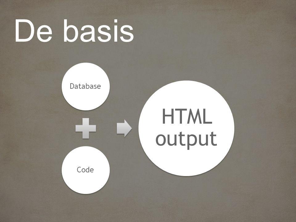 DatabaseCode HTML output