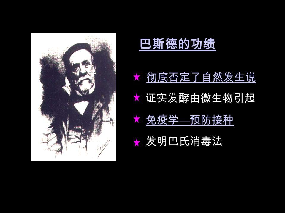 细菌学(巴斯德、科赫)巴斯德科赫 外科消毒术外科消毒术( Lister , 1865 )和乳酸菌的分离乳酸菌的分离 根瘤菌等土壤微生物的研究( M·W 贝, C·H 维) 无酵母菌压汁酶功能的发现( E.Buchner,1897) 化学药剂和抗生素发现和临床应用( 1909-1935 )抗生素发现