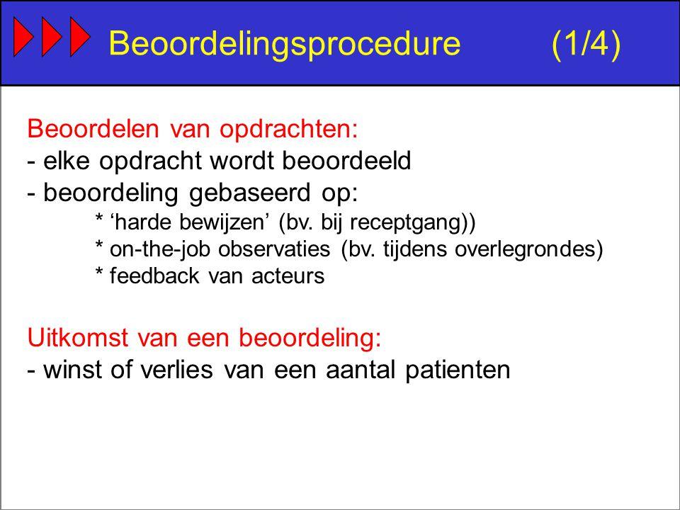 Beoordelen van opdrachten: - elke opdracht wordt beoordeeld - beoordeling gebaseerd op: * 'harde bewijzen' (bv.