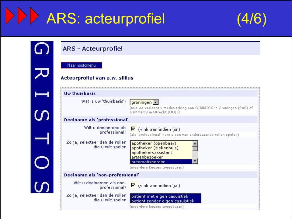 ARS: acteurprofiel(4/6)