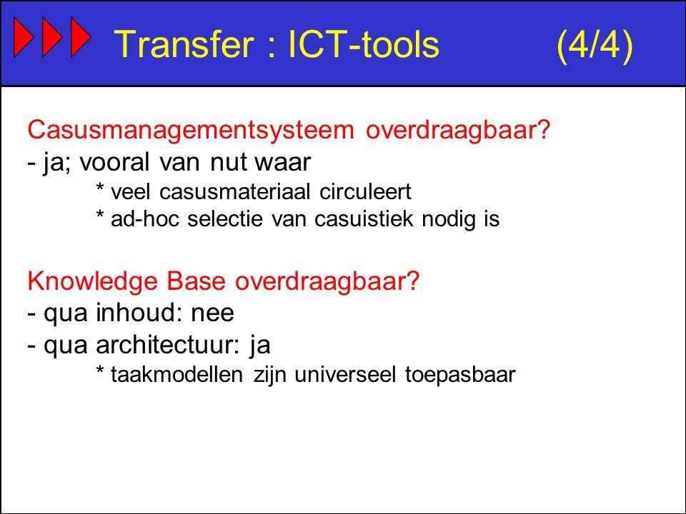Transfer : ICT-tools(4/4) Casusmanagementsysteem overdraagbaar.