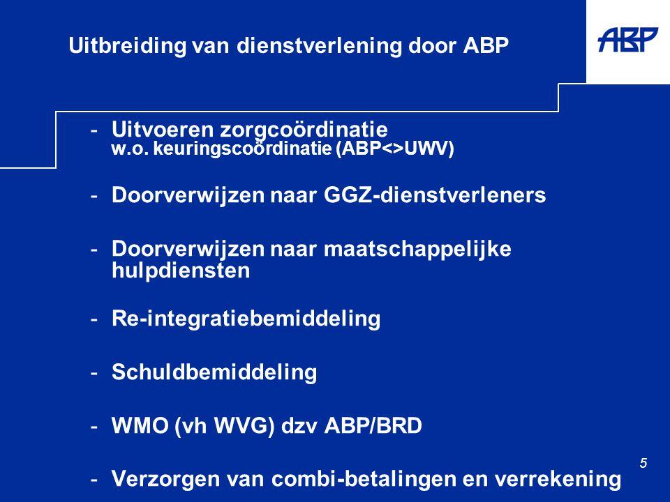 5 Uitbreiding van dienstverlening door ABP -Uitvoeren zorgcoördinatie w.o.