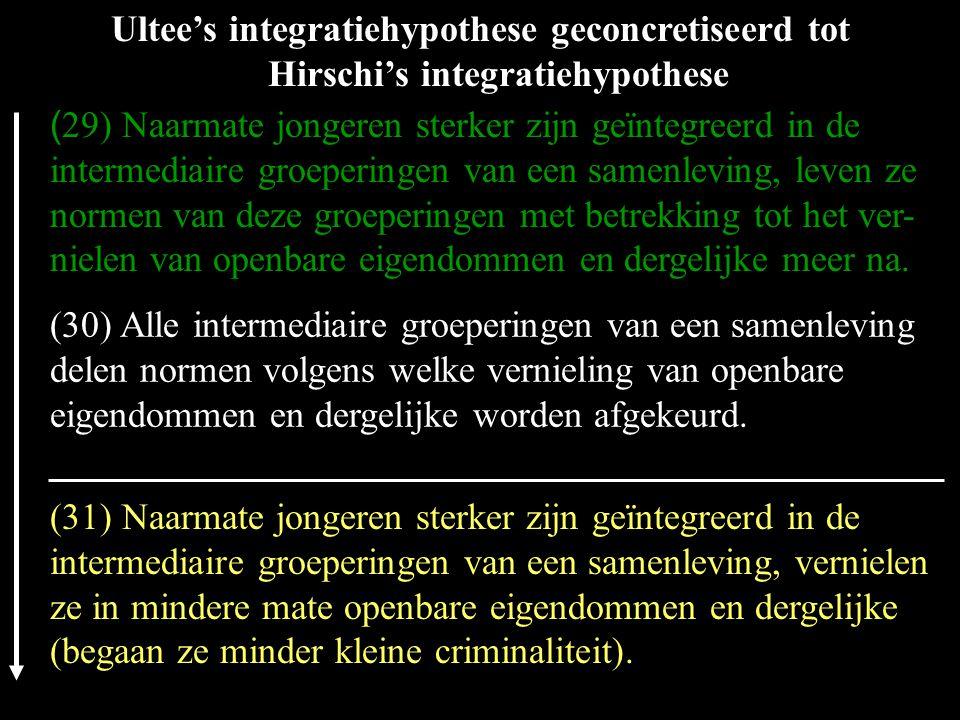 (30) Alle intermediaire groeperingen van een samenleving delen normen volgens welke vernieling van openbare eigendommen en dergelijke worden afgekeurd.