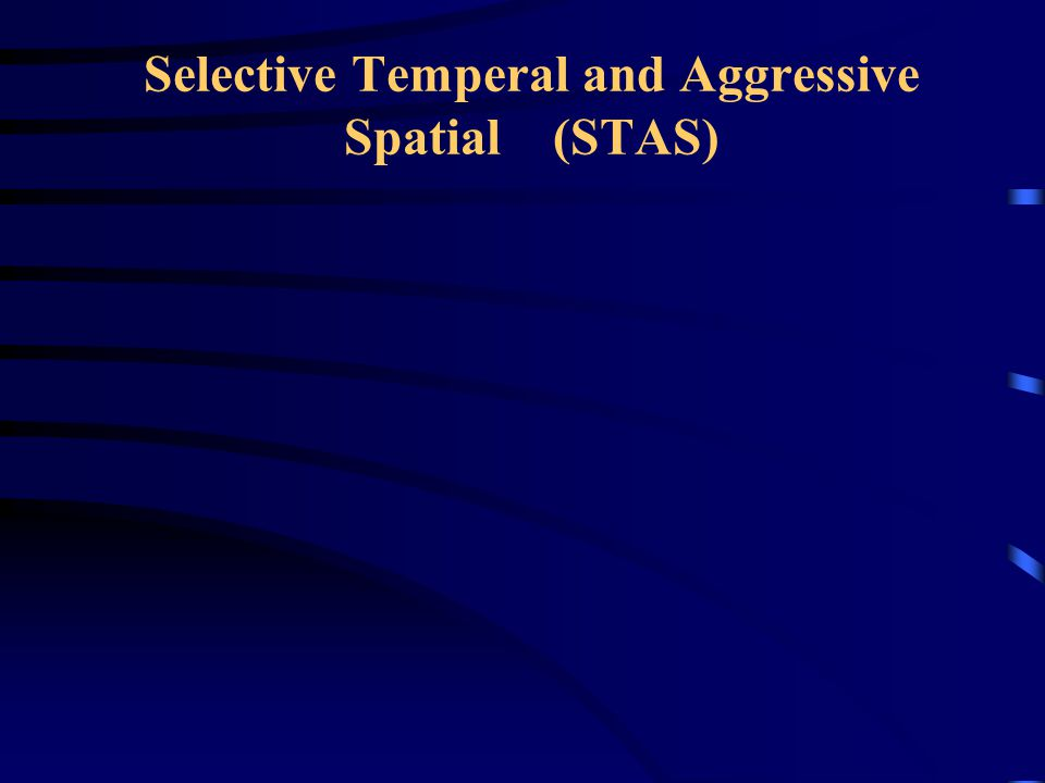Selective Temperal and Aggressive Spatial (STAS)