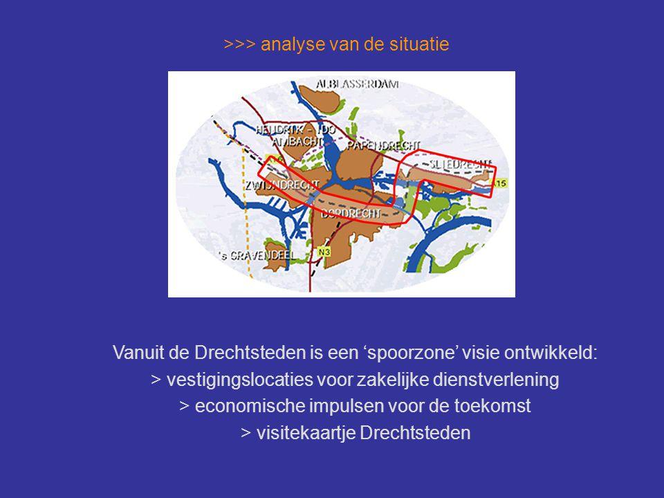 >>> analyse van de situatie Locatie ligt tussen A15 en spoorbaan en tussen Nijverwaard-West (1) en Stationspark (3) Er wordt echter weinig met de 'spoorzone' visie gedaan op de locatie.