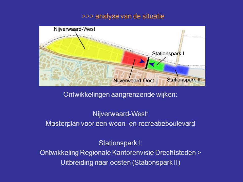 >>> analyse van de situatie Impressie Nijverwaard-West: Masterplan voor een woon- en recreatieboulevard