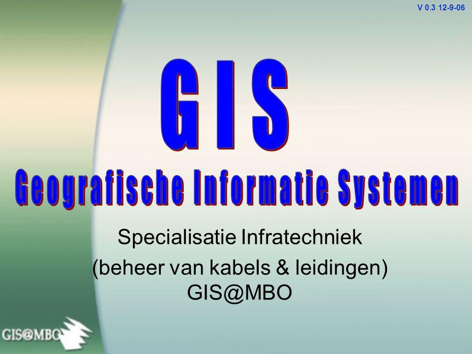 Specialisatie Infratechniek (beheer van kabels & leidingen) GIS@MBO V 0.3 12-9-06