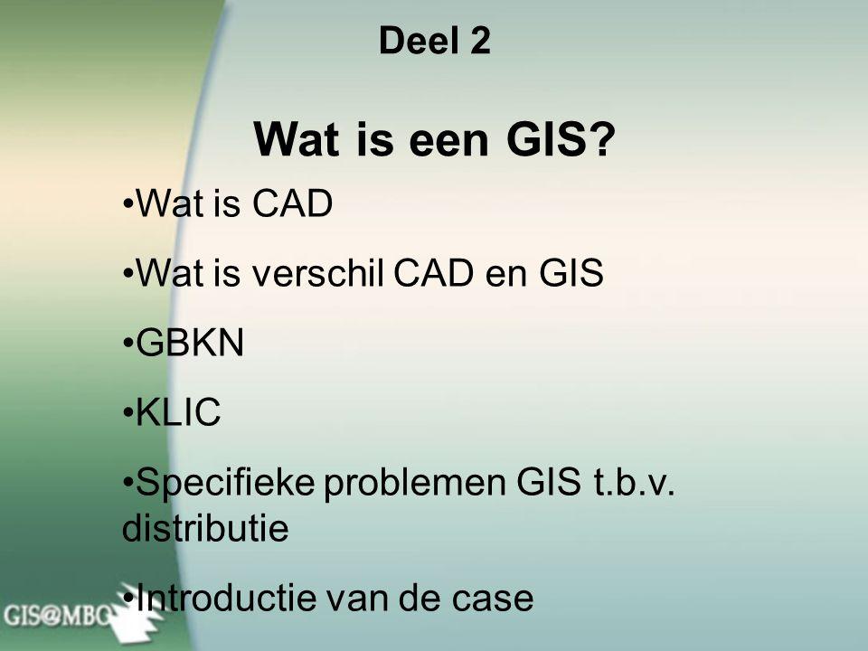 Deel 2 Wat is een GIS.