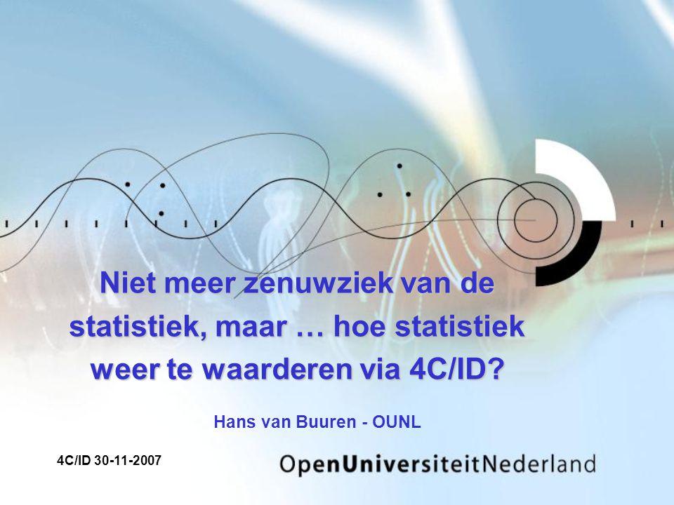 Niet meer zenuwziek van de statistiek, maar … hoe statistiek weer te waarderen via 4C/ID.