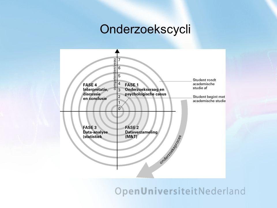 Vakgericht psychologiecurriculum