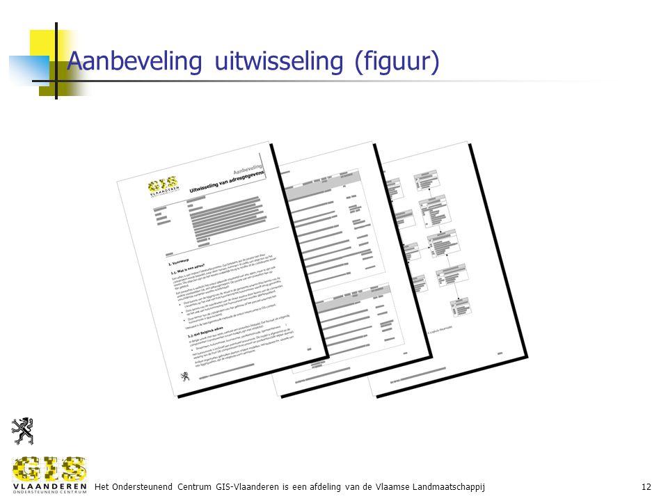 Het Ondersteunend Centrum GIS-Vlaanderen is een afdeling van de Vlaamse Landmaatschappij12 Aanbeveling uitwisseling (figuur)